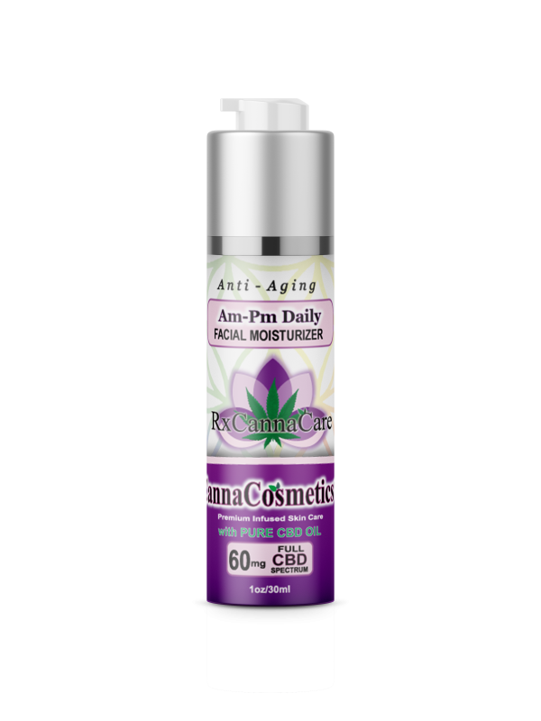 CBD AM/PM Anti-Aging Daily Moisturizer with Hyaluronic Acid